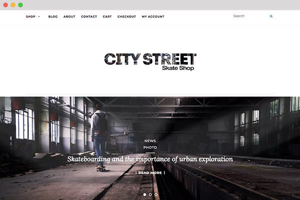 City Street Skate Shop Responsive WordPress Website